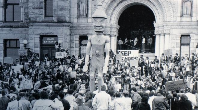 protest w Victorii