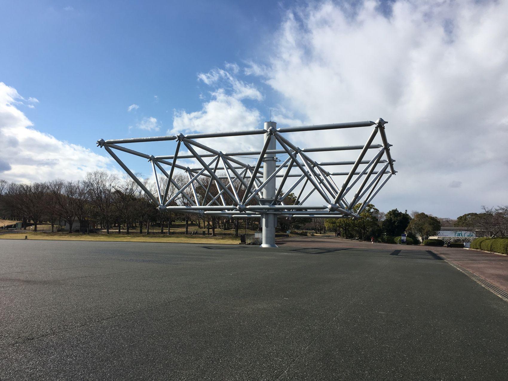 fragment konstrukcji pawilonu